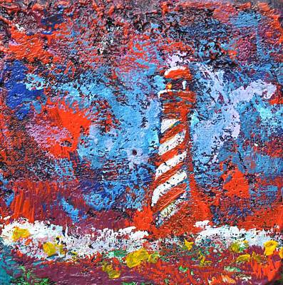 Painting - Lighthouse Rock, Red Impression by Eduard Meinema