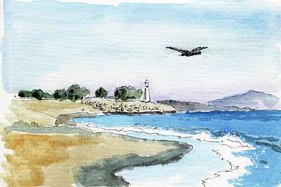 Painting - Lighthouse. Santa Cruz by Masha Batkova