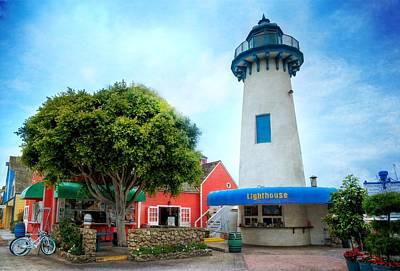 Photograph - Lighthouse Seaside Cafe by Lynn Bauer