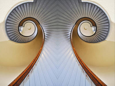 Photograph - Lighthouse Staircase Mirror by Kyle Hanson