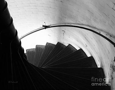 Photograph - Lighthouse Stairs by E B Schmidt