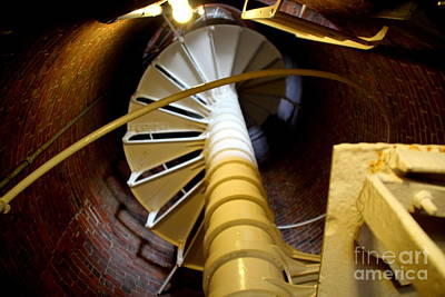 Photograph - Lighthouse Stairway by Lennie Malvone