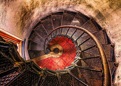 Photograph - Lighthouse Stairwell by Thomas Hall