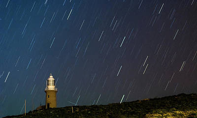Photograph - Lighthouse Star Trails by Martin Capek