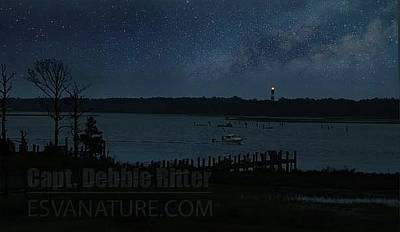 Photograph - Lighthouse Stars by Captain Debbie Ritter