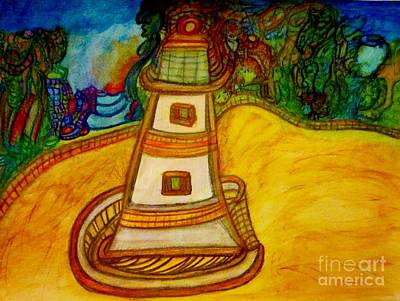 Lighthouse Painting - Lighthouse by Stephanie Zelaya