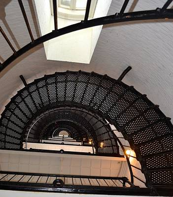 Photograph - Lighthouse Steps Looking Up by Richard Bryce and Family