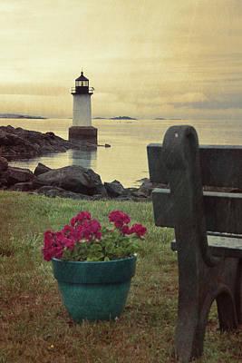 Photograph - Lighthouse Storm - Fort Pickering Light  by Joann Vitali