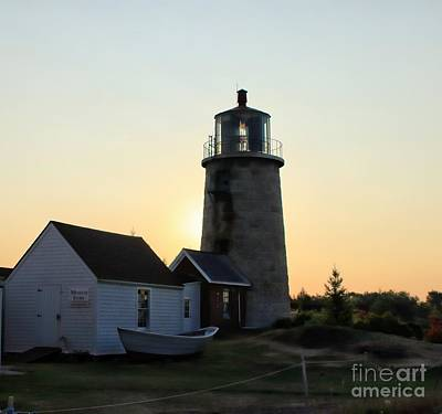 Photograph - Lighthouse - Sunrise - Monhegan by Marcia Lee Jones