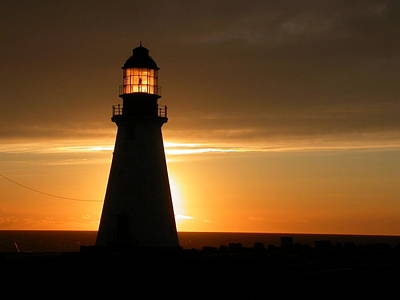 Photograph - Lighthouse Sunset by Brian Chase