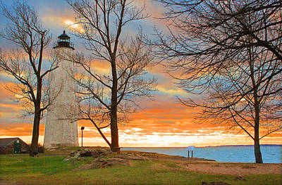 Lighthouse Sunset Print by Cathy Leite Photography