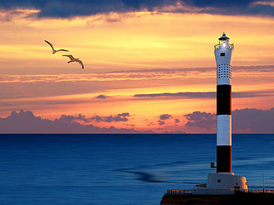 Photograph - Dungeness Lighthouse Sunset by Gill Billington