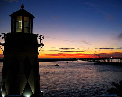 Photograph - Lighthouse Sunset by Larry Beat