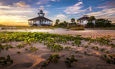 Florida House Photograph - Lighthouse Sunset by Marvin Spates