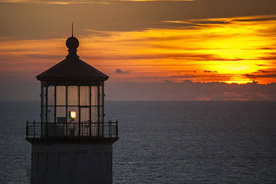 Photograph - Lighthouse Sunset by Robert Potts