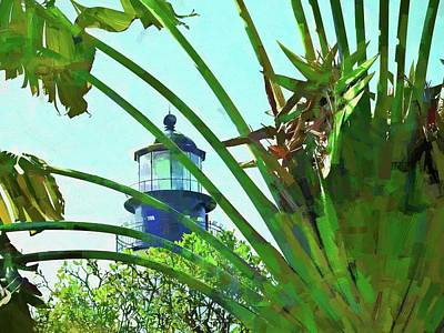 Photograph - Lighthouse Through Travelers Palm by Alice Gipson