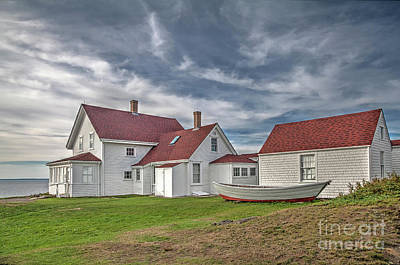Photograph - Keepers House At The Monheagn Lighthouse by Tom Cameron