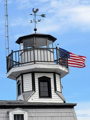 Photograph - Lighthouse Top by Charles HALL