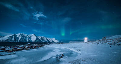 Winter Light Photograph - Lighthouse by Tor-Ivar Naess
