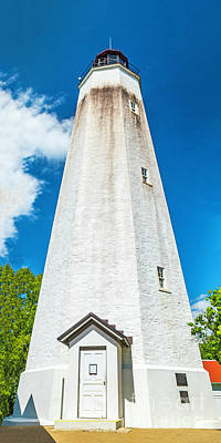 Photograph - Lighthouse Tower At Sandy Hook by Nick Zelinsky