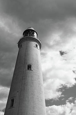 Photograph - Lighthouse Tower Bw Version by Gary Eason