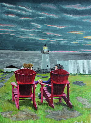 Painting - Lighthouse Lovers by Thom Barker