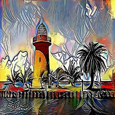 lighthouse - My WWW vikinek-art.com Art Print by Viktor Lebeda
