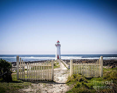 Sand Fences Photograph - Lighthouse Walk by Perry Webster