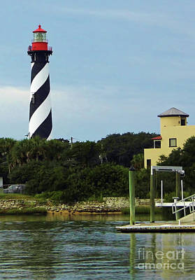 Photograph - Lighthouse Water View by D Hackett