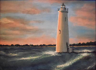 Painting - Lighthouse Waves by Francis Chester