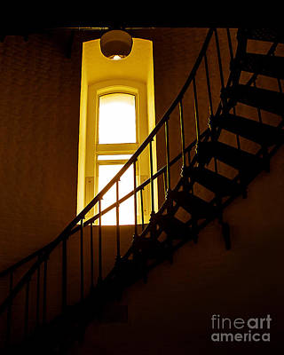 Photograph - Lighthouse Window And Spiral Staircase by Jerry Cowart