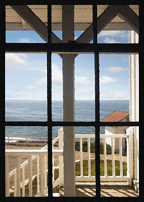Photograph - Lighthouse Window by Sharon Foster