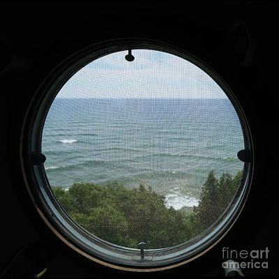 Lighthouse Window View Art Print