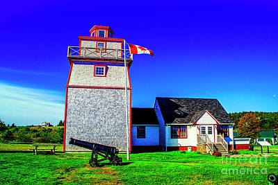 Photograph - Lighthouse With Cannon And Home by Rick Bragan