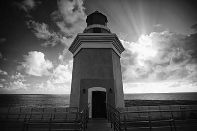 Lighthouse With Dramatic Sky Art Print
