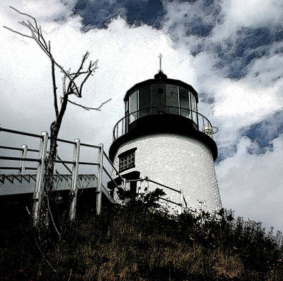 Lighthouse With Twist Art Print by Dennis Curry