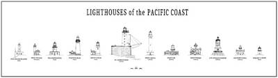 Lighthouses Of The Pacific Coast Print by Daniel Hagerman