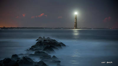 Photograph - Lighting Morris Island by Walt Baker