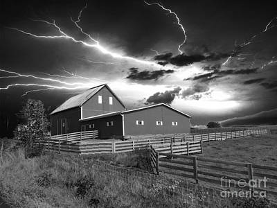 Photograph - Lighting Strike  by Scott B Bennett