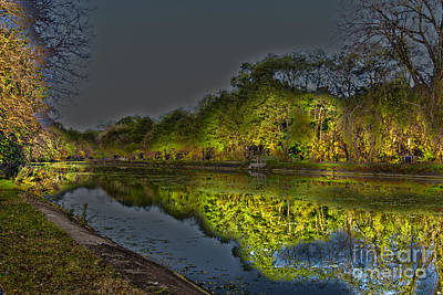 Photograph - Lighting The Erie Canal by William Norton