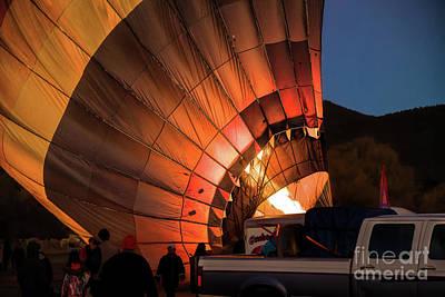 Photograph - Lighting The Fire by Jon Burch Photography