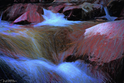 Water Filter Mixed Media - Lighting The Night by Todd Yoder
