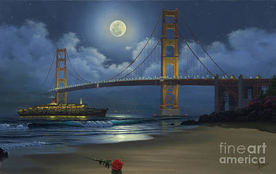 Golden Gate Painting - Lighting The Way Home by Al Hogue