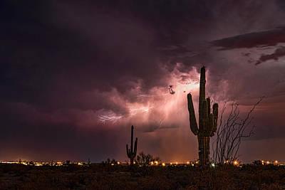 Photograph - Lighting Up The Desert Night  by Saija Lehtonen