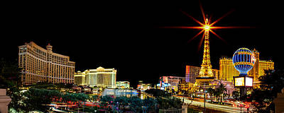 Paris Skyline Photograph - Lighting Up Vegas by Az Jackson