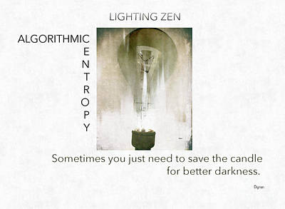 Lighting Zen  Art Print