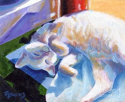Lightly Napping Art Print by Pat Burns