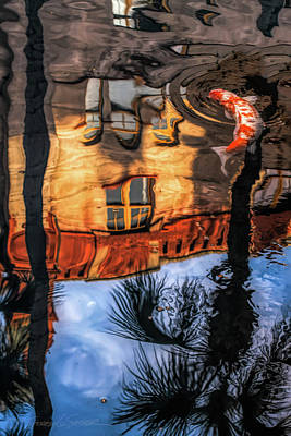 Photograph - Lightner Koi Pond Reflection I by Stacey Sather