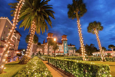 Photograph - Lightner Museum During Nights Of Lights by Stacey Sather