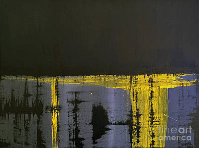 Abstract Painting - Lightness In The Dark by Amanda Sheil